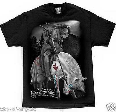 End Of Trail Native American Indian Warrior Horse David Gonzales Art DGA T Shirt