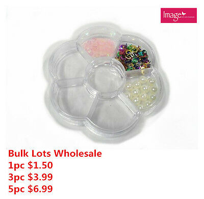 Bead/Craft Flower Shape Plastic Clear Storage Container 7 Compartments BulkLotAU
