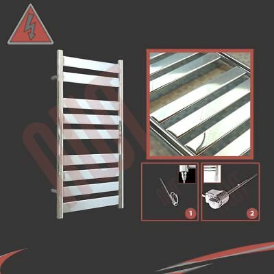 "500mm(w) x 950mm(h) Pre-Filled Electric ""Ruthin"" Chrome Towel Rail - 150W"