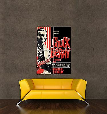 Poster Print Vintage Advert Music Concert Rock Roll Chuck Berry Guitar Seb399