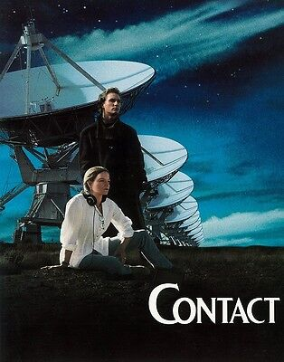 """CONTACT  lobby card 11"""" x 14"""" JODIE FOSTER, MATTHEW MCCONAUGHEY, CONTACT poster"""