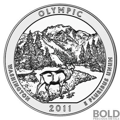 2011 5 oz Silver ATB Olympic NP Bullion Coin in Capsule