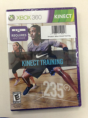 Nike + Plus Kinect Training 235+ Xbox 360 Brand New Sealed Fitness Video Game