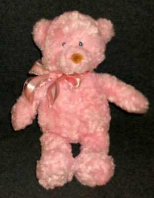 """Baby Gund Soothing Sounds Teddy Bear plush doll Heartbeat Music Nature pink 15"""""""