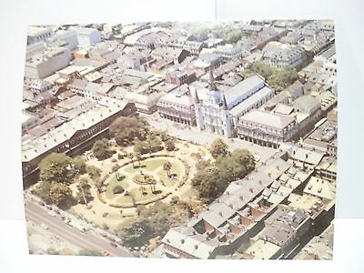 VINTAGE JACKSON SQUARE from OVER NEW ORLEANS by DAVID KING GLEASON 1983 unused !