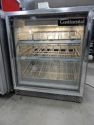 Under-counter Glass Door Freezer Holds Zero Degrees F Used UCF27-GD Continental