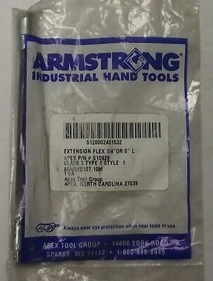 """Armstrong S10929 1/4"""" Drive x 6"""" Flex Extension USA"""