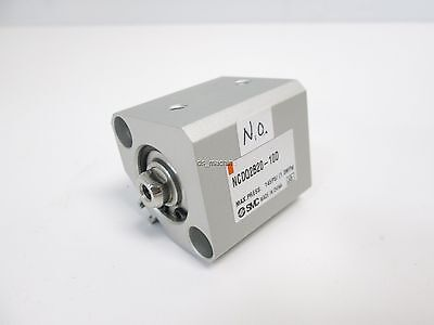 New SMC NCDQ2B20-10D Pneumatic Cylinder, Double Acting, 20mm Bore, 10mm Stroke