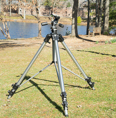 Professional Manfrotto 3058 tripod with 3047 3D Pro Head-height to 8.5 feet