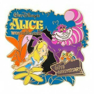 Disney 60th Anniversary Alice in Wonderland Alice Cheshire Cat pin LE 1500
