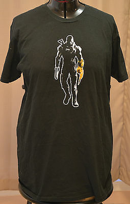 MASS EFFECT 3 SHEPARD T-SHIRT Video Game PROMO XL Tee N7 Black (Fits Large)