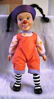 """BIG COMFY COUCH - 15"""" LOONETTE THE CLOWN PLUSH & VINYL DOLL - GREAT GIFT ITEM!!"""