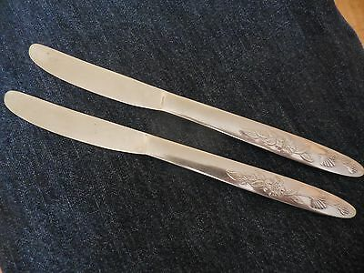 Set of 2 Nasco Stainless Japan Knives in Lady Charming Pattern
