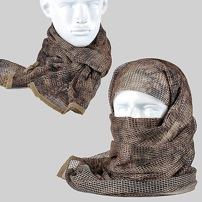 Highlander Camouflage Camo Army Mesh Breathable Scarf Wrap Mask Shemagh Veil