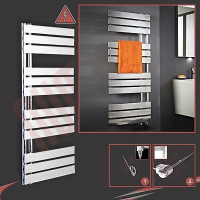 "500mm (w) x 1200mm (h) Pre-filled Electric ""Apollo"" Chrome Towel Rail - 300W"