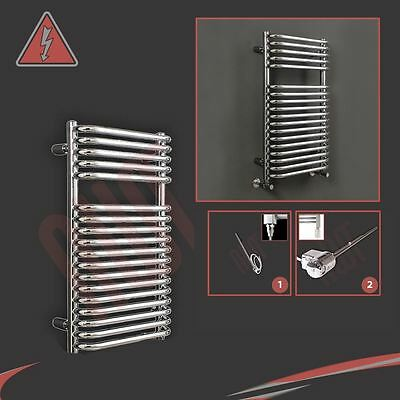 "500mm(w) x 800mm(h) Pre-filled Electric ""Orion"" Chrome Towel Rail - 150W"