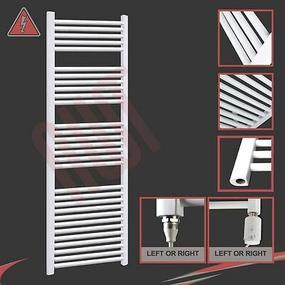 600mm(w) x 1800mm(h) Pre-filled Electric 600W Straight White Towel Rail Radiator