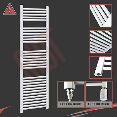 500mm(w) x 1800mm(h) Pre-filled Electric 600W Straight White Towel Rail Radiator
