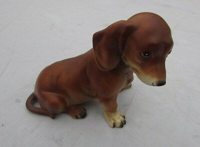 Vintage Mid Century Dachshund dog figurine  Possibly German manufacturing