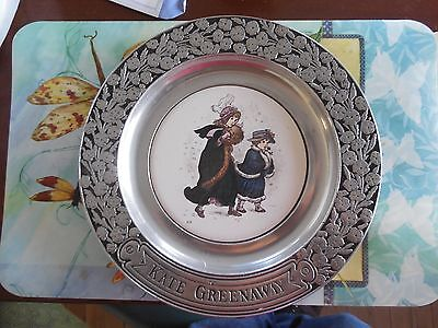 Vintage Wilton Kate Greenaway Pewter Plate
