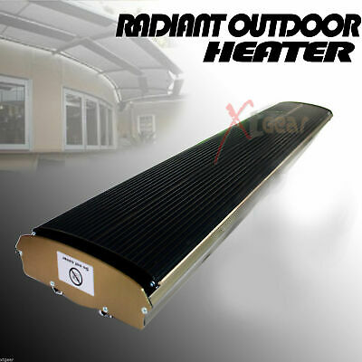 110V Radiant Outdoor Heater For Patio Ceiling Wall Mount Infrared Radiant