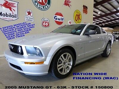 Ford : Mustang GT 05 mustang gt 5 spd trans leather shaker 500 6 disk cd 17 in whls 63 k we finance