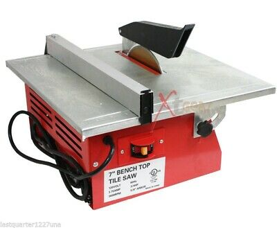 "New 7"" Wet Tile Saw w/ Tray Tile Cutter Bench Top Tile Saw UL Motor w/ Blade"