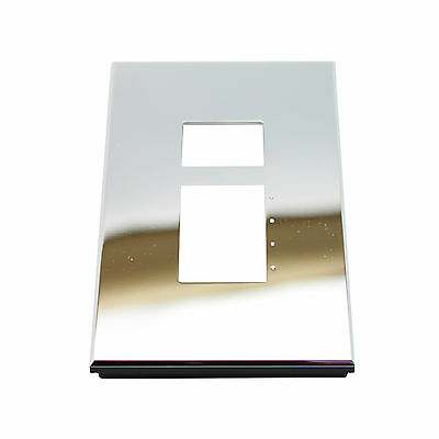 Lutron Nt-C11-Nfb-Bc Nova T Series Wall Plate, 1-Gang, Bright Chrome Metal