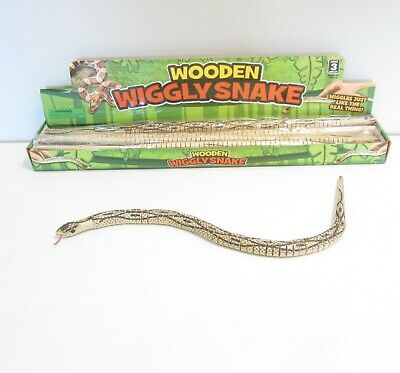"""WIGGLE MOVING WOOD SNAKES 28/"""" wooden toys snake NEW pretend kids play toy NEW"""