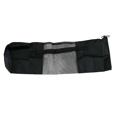 Yoga Bag Portable Yoga Mat Bag Nylon Carrier Mesh Black FE