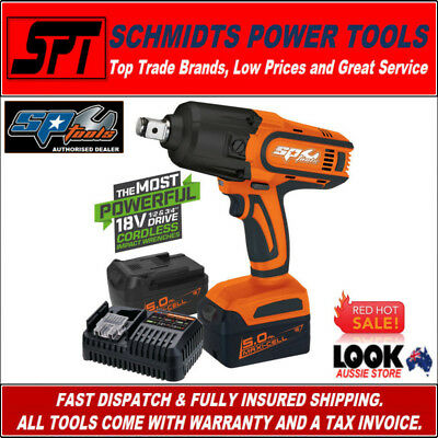 "SP TOOLS SP81140 18V 3/4"" DRIVE CORDLESS IMPACT WRENCH KIT 2x 5.0Ah BATTERIES"