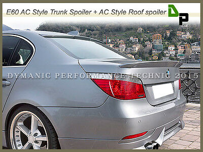 #354 Titan Silver AC Type Trunk & Roof Spoiler For BMW E60 5-Series Sedan 04-10