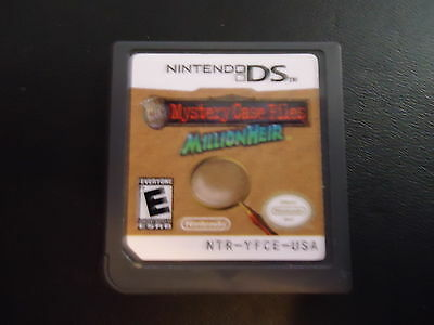 Mystery Case Files: MillionHeir (Game Cart Only) Nintendo DS
