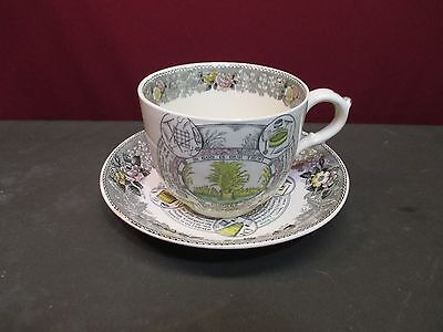 ADAMS STAFFORDSHIRE CHINA THE FARMERS ARMS CUP AND SAUCER
