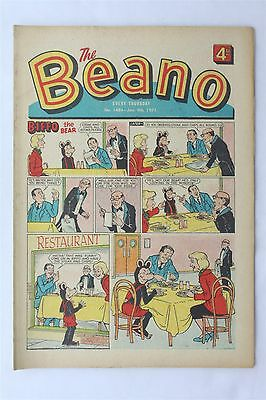 The Beano 1487 January 1971 Vintage UK Comic Dennis The Menace Biffo The Bear
