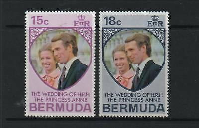 Bermuda 1973 Royal Wedding SG 297/8 MNH