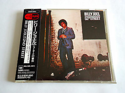 BILLY JOEL 52nd Street JAPAN CD w/OBI 1990 CSCS-6063