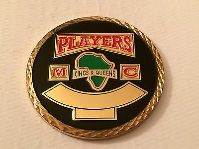 Players Kings and Queens Motorcycle Club Bridgeport Collector Challenge Coin MC