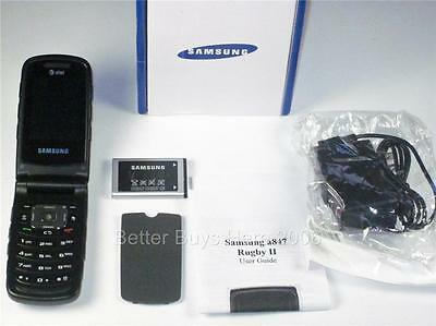 Samsung Rugby 2 SGH A847 AT&T Flip Phone With GPS Camera PTT Bluetooth BRAND NEW