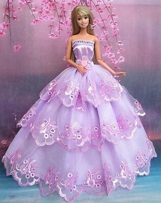 Fashion Royalty Princess Party Dress gown For silkstone Barbie Doll a006 !
