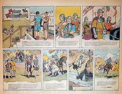 Prince Valiant by Hal Foster - half-page color Sunday comic, VFn - March 3, 1963