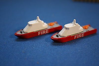 Two FIRE rescue boats 1200 scale, nice , mint unboxed Triang Minic Ships
