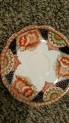 """5.625"""" Antique Fine Bone BELL CHINA SAUCER Made in ENGLAND gaudy welsh NO CUP"""