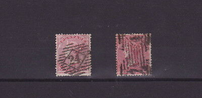 1855-57 GREAT BRITAIN VICTORIA 4d Rose-Carmine SG66 x 2 DIFFERENT SHADES GOOD U