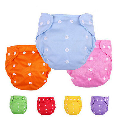 New Infant Baby Cloth Adjustable Reusable Nappy Covers Baby Diaper Pants