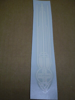 Schwinn Approved White Gothic Style Bicycle Seat Tube Decal Jaguar Corvette