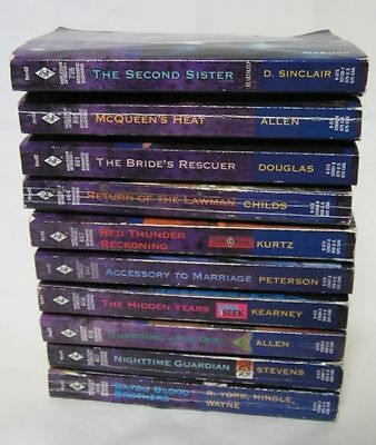 Book Lot of 10 Intrigue Suspense Romance Years Later Harlequin