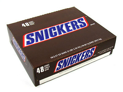 1 Box - 48x Snickers Chocolate Bars 53grams Wholesale Bulk - BE QUICK VERY CHEAP