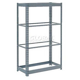 "Heavy Duty Shelving 48""W x 24""D x 60""H With 4 Shelves, No Deck"