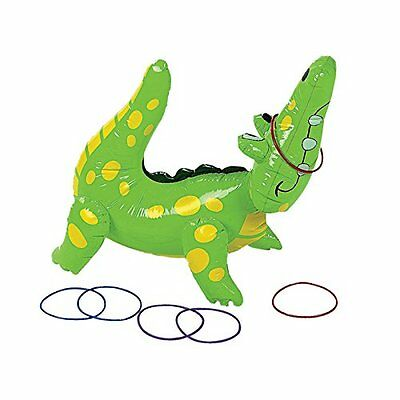 Pool Fun Inflatable Alligator Ring Toss Game Outdoor Water Play Beach New